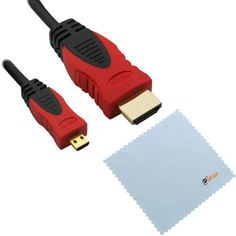 GTMax 6FT Micro-HDMI to HDMI Cable (Black/Red) for Acer Iconia A500; Asus VivoTab Smart ME400, VivoTab TF810, Vivo Tab RT, PadFone(Station); Motorola DROID RAZR MAXX HD/ HD XT926 and Other Tablet /CellPhone/Camera with *Cleaning Cloth* by GTMax. $6.99. Micro-HDMI Cable - Supports Ethernet, 3D, and Audio Return - HDMI combines both audio and video into one convenient cable, so it's all you need to connect your Android Phone  or any device with a Micro-HDMI output to your HDTV vi...
