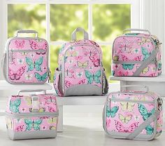 Mackenzie Pink Pretty Butterfly Lunch Bags #pbkids