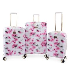 3 pcs Luggage Trolley Case Set Wine Only by eight24hours SPECIAL GIFT