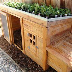 Planter Chicken Coop