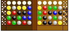 Kodeknacker spielen: Schaffst du es, die Farben zu erraten, die dein Gegenspieler versteckt hat? Und wer ist schneller?