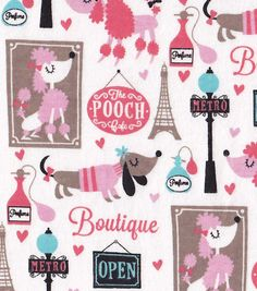Snuggle Flannel Fabric-The Pooch Cafe