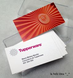 Nice business cards for a Tupperware agent by La FELIZ IDEA [design] ^_^