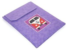 Ipad Cover VW Camper Van Lilac Polka Dots by WhimsyWooDesigns, £18.00