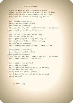 ♥ 'All In My Head' by Tori Kelly ♥