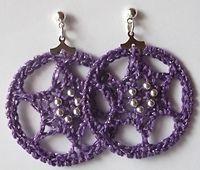 Six-Pointed Star Hoop Earrings: free #crochet pattern ✿⊱╮Teresa Restegui http://www.pinterest.com/teretegui/✿⊱╮