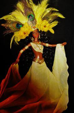 SOLD Yaruba Goddess Ochen Dakotas.song OOAK Doll Artists