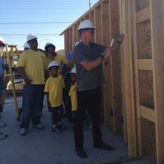 Having fun building a house with Habitat for Humanity! We feel very lucky to be involved. #FlippingVegas