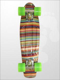 Edge Series Prints Retro Cruiser Skateboard 22inch Striped Candy Stripe | twobarefeet.co.uk