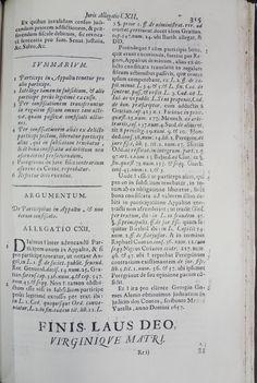 AROUCA, Antonio Mendes, 1610-1680. Allegationes juris in quibus quamplurimae valde. Ulyssipone Occidentali: Ex Officina Antoni de Sousa Sylva, 1733. Detalhe: interior da obra