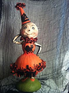 Bethany Lowe Halloween Skellita Skeleton Large Clown Figure