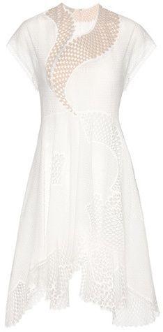 Stella McCartney Besticktes Kleid Clothilde Aus Einem Baumwollgemisch