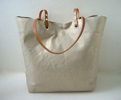 Metallic Linen Tote Bag - Gold Metallic