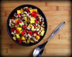 Black Eyed Pea & Mango Salad w/Honey Cumin Vinaigrette