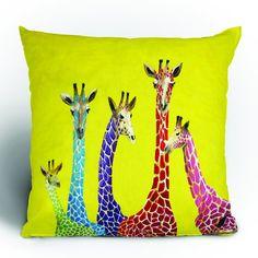 """Clara Nilles """"Jellybean Giraffes"""" Throw Pillow"""