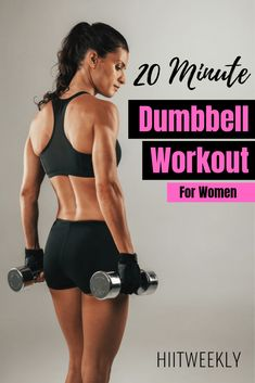 Melt fat and tone muscle with this dumbbell workout for women to lose weight. An… Melt fat and tone muscle with this dumbbell workout for women to lose weight. Another awesome workout with weights. Hiit, Weight Loss Challenge, Weight Loss Tips, Full Body Dumbbell Workout, Fat Workout, Workout Plans, Workout Routines, Workout Men, Tummy Workout