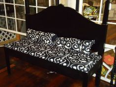 HANDMADE HEADBOARD BENCH