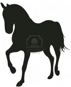 Silhouet Horse Template/ Stencil. From 123RF.com