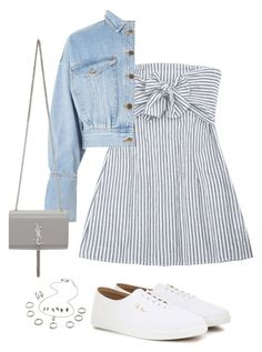 """""""Untitled #5550"""" by lilaclynn ❤ liked on Polyvore featuring The Row, Topshop, Yves Saint Laurent, YSL, saintlaurent and yvessaintlaurent"""