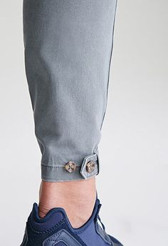 Button-Tab Ankle Chinos | 21 MEN - 2000081994