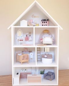 crafts for kids doll houses Kids Doll House, Doll House Crafts, Doll House Plans, Barbie Doll House, Doll Houses, Barbie Furniture, Dollhouse Furniture, Kids Furniture, Baby Room Decor