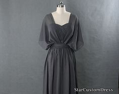 Grey Bridesmaid Dress Long Convertible by StarCustomDress on Etsy Grey Bridesmaid Dresses, Prom Dresses, Formal Dresses, Best Sister, Wedding Attire, Fashion Beauty, Dress Long, Convertible, Trending Outfits