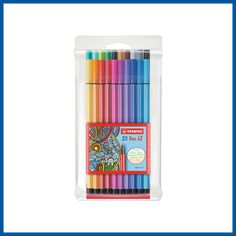 Stabilo Pen 68, Blending Markers, School Tool, Clear Lip Gloss, Pen Collection, Gifts Delivered, Permanent Marker, Marker Art, Pen Sets