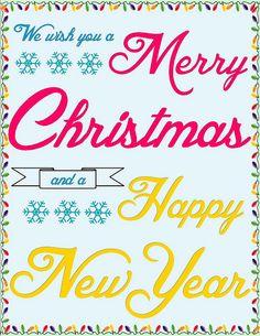 Merry Christmas printable