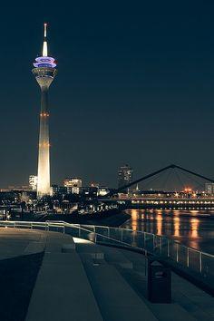 "Düsseldorf / Duesseldorf / Germany nonconcept: ""Futuristic City"", Düsseldorf, Germany by _flowtation."