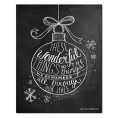 Wonderful Things... just hear those sleighbells jinglin ringling tingling to...I can just hear Amy Grant belting this out. :-)