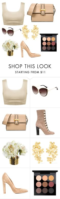 """Без названия #911"" by dianagrigoryan ❤ liked on Polyvore featuring Jimmy Choo, Paper Whites, Pippa Small, Gianvito Rossi and MAC Cosmetics"