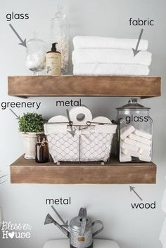 Make Your Own FARMHOUSE Bathroom…Yourself! modern farmhouse bathroom makeover, bathroom ideas, diy, home decor This image has get. Interior Design Minimalist, Modern Farmhouse Bathroom, Farmhouse Chic, Farmhouse Bathroom Accessories, Farmhouse Ideas, Farmhouse Remodel, Modern Farmhouse Decor, Country Farmhouse, Farmhouse Shelving