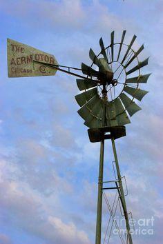 Chicago Aermotor Windmill Photograph - Chicago Aermotor Windmill Fine Art Print