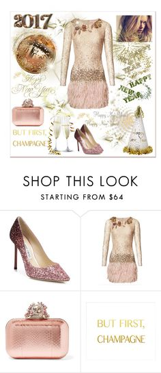 """Happy New Year to my Poly Friends!"" by zabead ❤ liked on Polyvore featuring Jimmy Choo and Matthew Williamson"