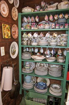 China & transfer ware.  OK this is my dream.