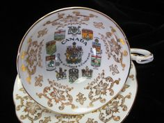 Paragon  Canada Coat of Arms and Emblems Cup and by Cupsofthepast