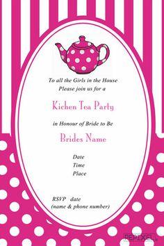Bridal shower bridal shower invitation bridal shower invitation bridal shower invitations dotty teapot kitchen bridal showerstea stopboris Image collections