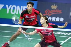 Ko Sung Hyun & Kim Ha Na compete in the mixed doubles final. (BWF) #BadmintonMixDoubles #badminton #badmintonfan