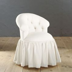 Reese Natural Skirted Vanity Chair | Box pleat skirt, Box pleats ...