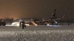 3 January - Aeroflot Flight 1008, an Airbus A321-211 (VP-BES) overuns the runway & nose gear collapses after landing at Kaliningrad-Khrabrova Airport, Russia.