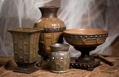 strata decorative vase large and medium, or bowl to match the Strata Warmers! $40 shipped!