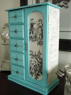 Large Vintage Upcycled Hand Painted and by ColorfulHomeDesigns, $82.00