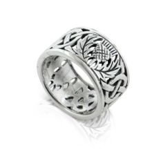 His band: Scottish Thistle and Celtic Knot Wedding Band 11mm Wide Sterling Silver Ring(Sizes 3 4 5 6 7 8 9 10 11 12 13 14 15): http://www.amazon.com/Scottish-Thistle-Celtic-Wedding-Sterling/dp/B003AWDC1O/?tag=greavidesto05-20