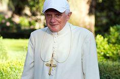 Trendsetter: Pope Benedict XVI in a baseball cap