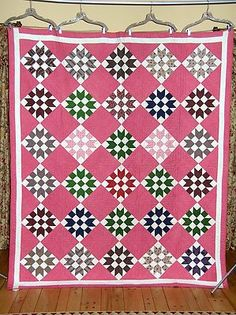 Antique 1800s Sister's Choice Quilt | eBay