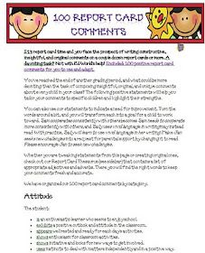 125 ready-to-use report card comments for Elementary Students ...