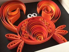Quilled PAPER art: CRAZY CRAB-quilling wall by MyHomeMyRules