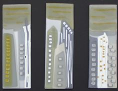 Cityscape. Kilnformed glass by Barbara Muth
