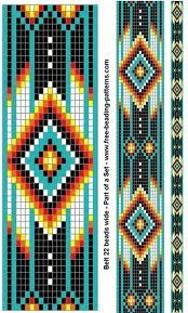 Native american chart good for a seed bead pattern think for Native american tile designs
