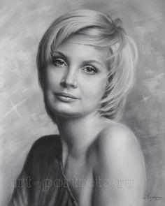 Igor Kazarin--Pretty girl drawing. 2014